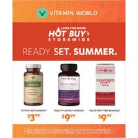 HOT BUYS FOR THE SUMMER from Vitamin World