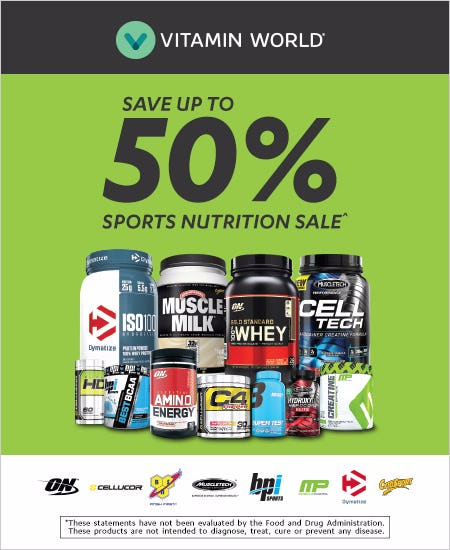 Save Up to 50% Sports Nutrition Sale^