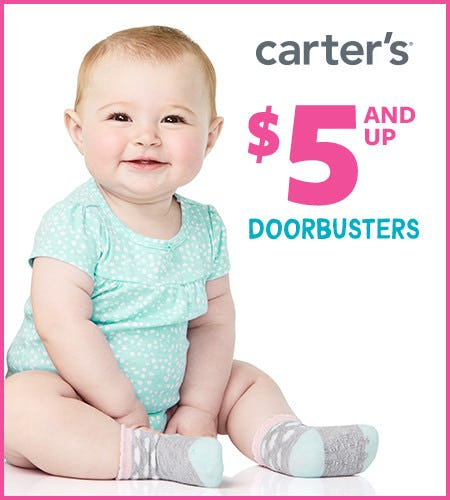 $5 and up Doorbusters* from Carter's