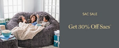 Get 30% Off Sacs from Lovesac