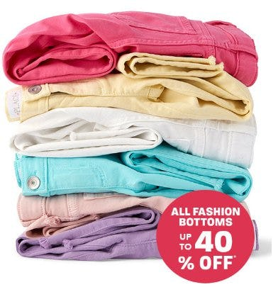 All Fashion Bottoms up to 40% Off from The Children's Place