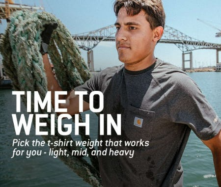 T-Shirts in Three Weight Classes from Carhartt
