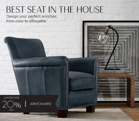 20% Off Armchairs from Pottery Barn