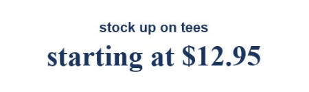 Tees Starting at $12.95 from Abercrombie Kids