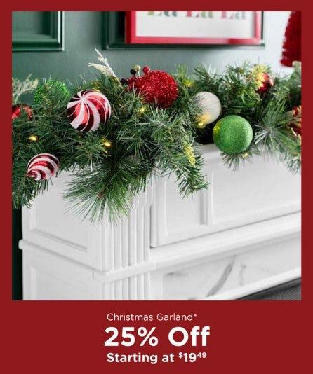 Christmas Garland Starting at $19.49 from Kirkland's