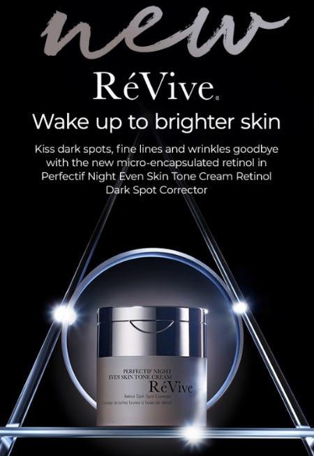 New RéVive Perfect Night Even Skin Tone Cream