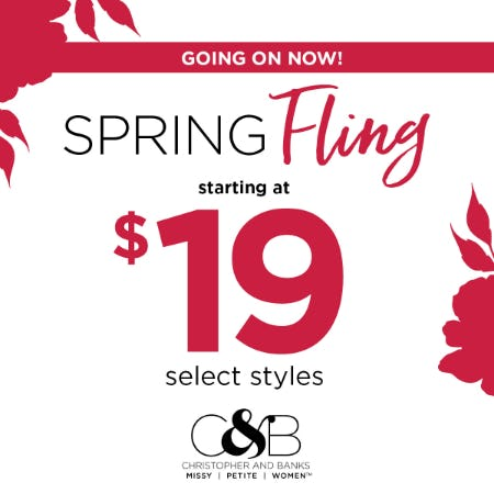 Spring Fling Sale! from christopher & banks | cj banks