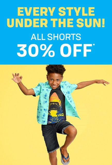 All Shorts 30% Off from The Children's Place