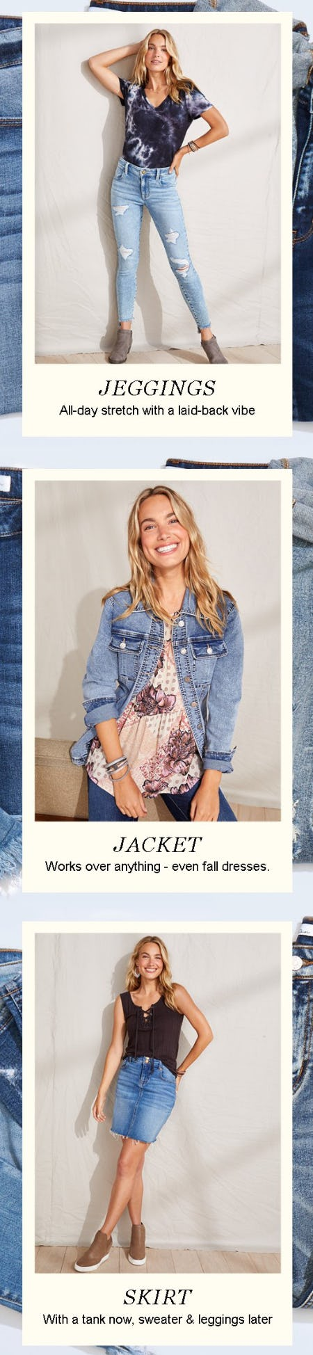 3 New Ways to Wear Vintage Denim from maurices