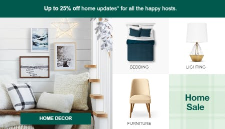 Up to 25% Home Sale from Target