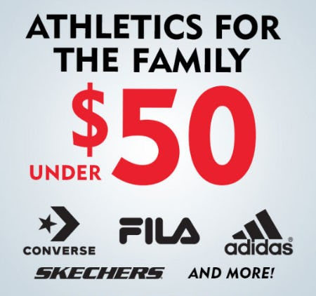 Athletics for the Family Under $50 from Shoe Carnival