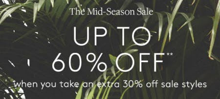The Mid-Season Sale: Up to 60% Off from Club Monaco