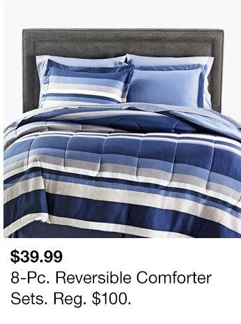 $39.99 8-Pc. Reversible Comforter Sets from macy's