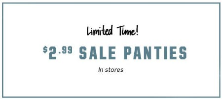 $2.99 Sale Panties from Victoria's Secret