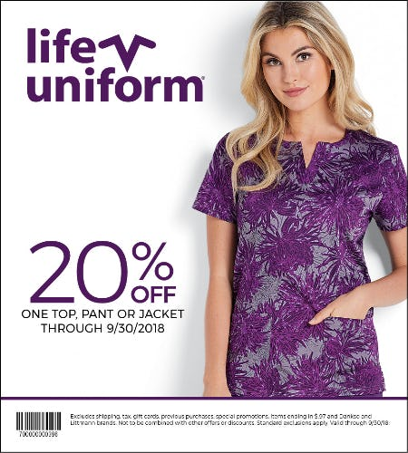 20% Off Coupon from Life Uniform