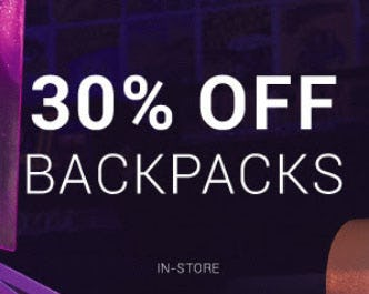 30% Off Backpacks from Hibbett Sports