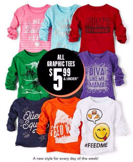 All Graphic Tees $5.99 & Under