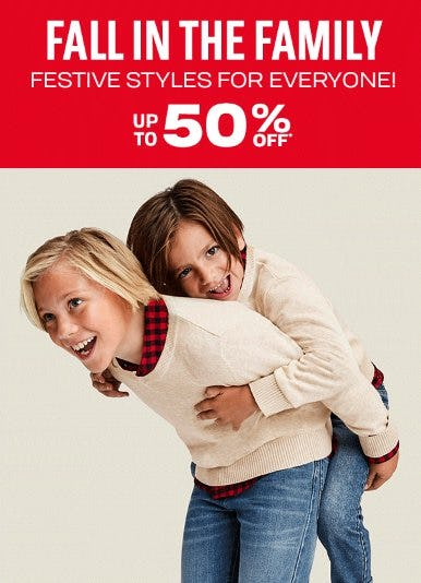 Festive Styles for Everyone up to 50% Off from The Children's Place