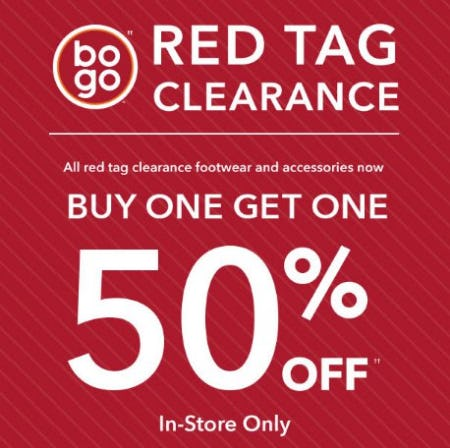 Buy One, Get 50% Off Red Tag Clearance from Payless ShoeSource