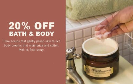 20% Off Bath & Body from The Body Shop