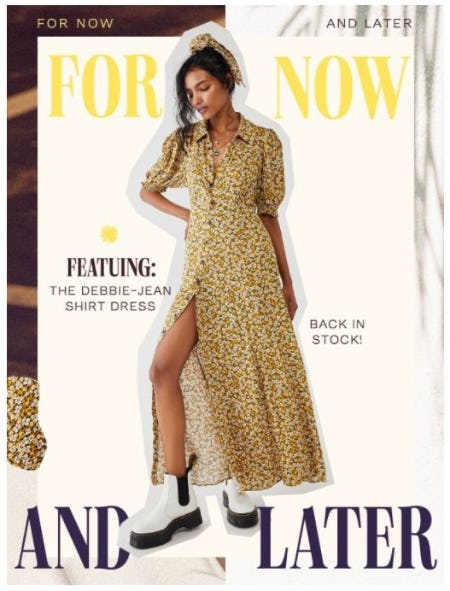 It's Back: The Debbie-Jean Shirtdress from Free People