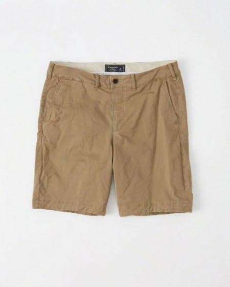 Plainfront Shorts from Abercrombie & Fitch