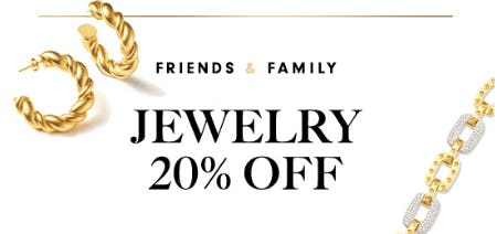 Friends & Family: 20% Off Jewelry