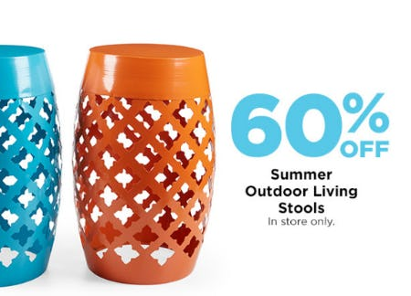 60% Off Summer Outdoor Living Stools from Michaels