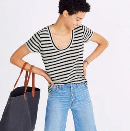 City Tee In Calgary Stripe from Madewell