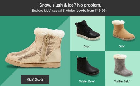 Kids' Casual & Winter Boots from $19.99 from Target