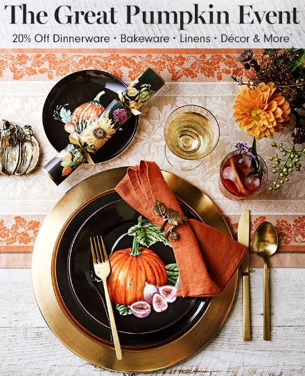 The Great Pumpkin Event 20% Off from Williams-Sonoma