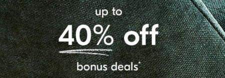 Up to 40% Off Bonus Deals from West Elm