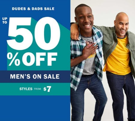 Dudes & Dads Sale up to 50% Off from Old Navy