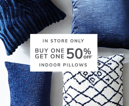 BOGO 50% Off Indoor Pillows from Pier 1 Imports