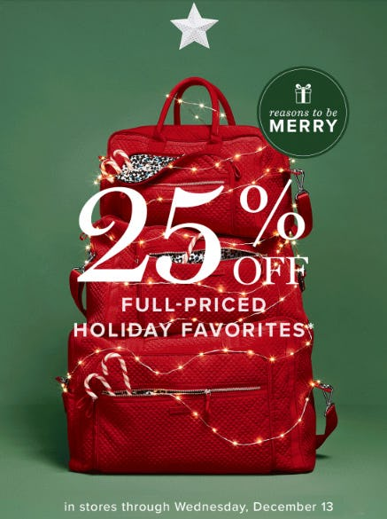 25% Off Full-Priced Holiday Favorites