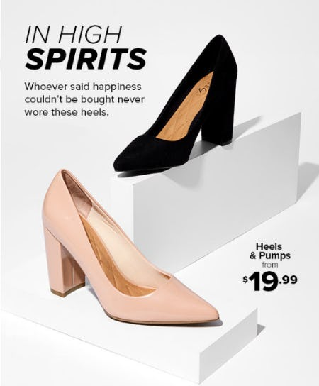 Heels & Pumps from $19.99 from Rainbow