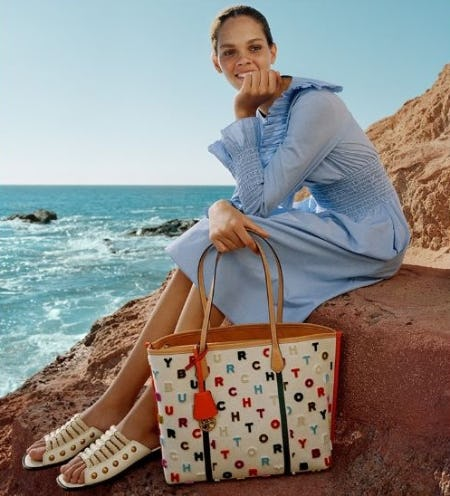 A Colorful New Tote from Tory Burch
