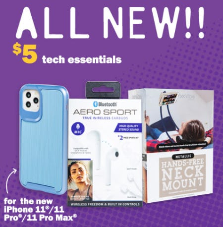 New $5 Tech Essentials for The New Iphone 11/11 Pro/11 Pro Max from Five Below