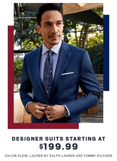Designer Suits Starting at $199.99 from Men's Wearhouse