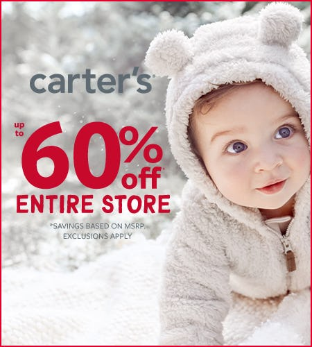 Oh What Fun! Gift Sale Up to 60% Off from Carter's