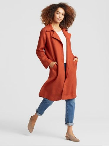 Organic Linen Trench Coat from Eileen Fisher