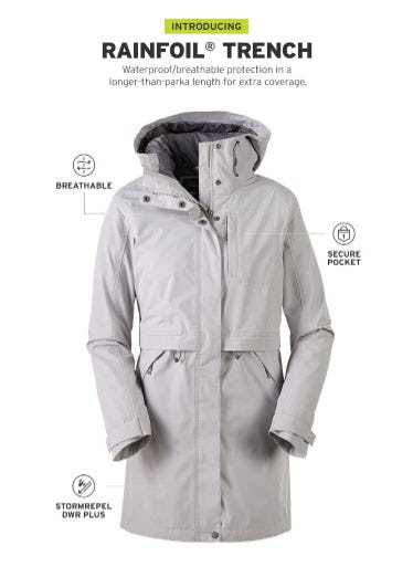 Introducing Rainfoil Trench from Eddie Bauer