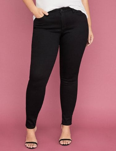 Power Pockets Super Stretch Skinny Ankle Jean from Lane Bryant