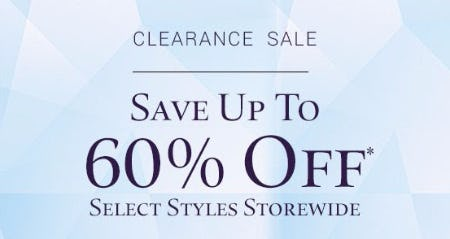 Clearance Sale up to 60% Off