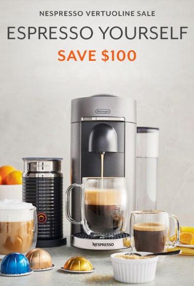 Save $100 Nespresso Vertuoline Sale from Sur La Table