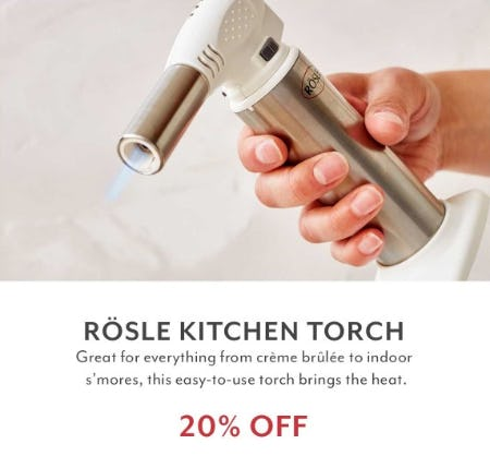 20% Off Rosle Kitchen Torch from Sur La Table