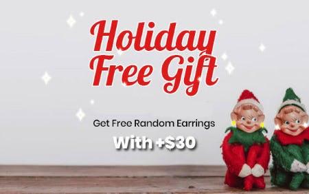 Free Random Earrings with +$30 from Papaya