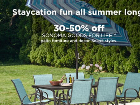 30-50% Off Sonoma Goods For Life from Kohl's