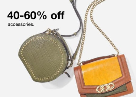 40-60% Off Accessories from Macy's Men's & Home & Childrens