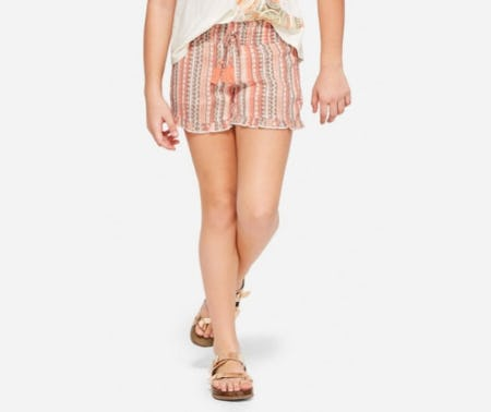 Mermaid Ruffle Hem Shorts from Justice